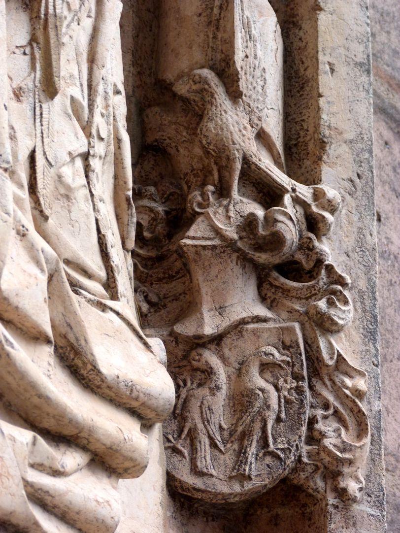 Epitaph des Kunz Horn Wappen der Stifterin Barbara Krell