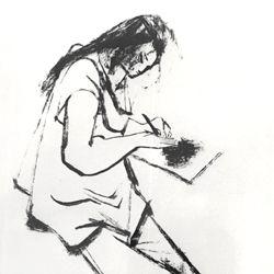 Zeichnende Frau