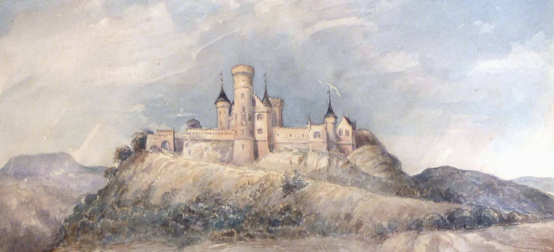 Der Landsberg von der Abendseite Schlossberg