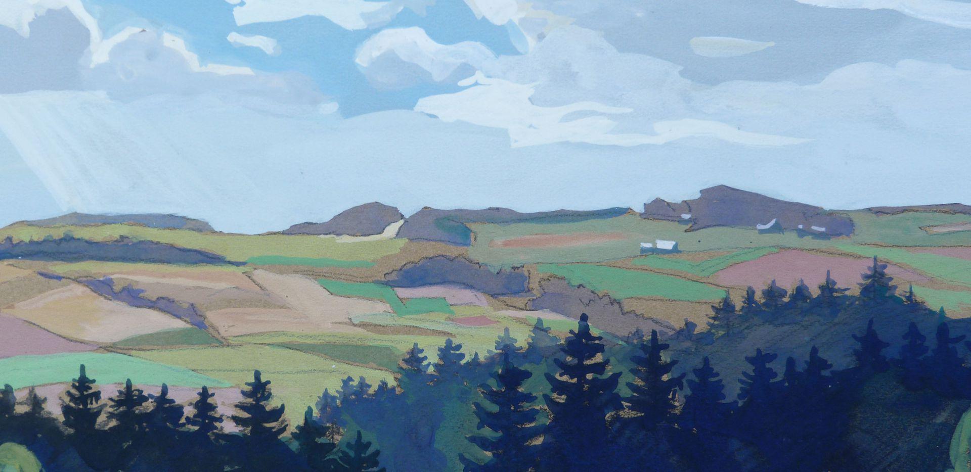 Landschaft bei Reichenbach im Vogtland Detailansicht