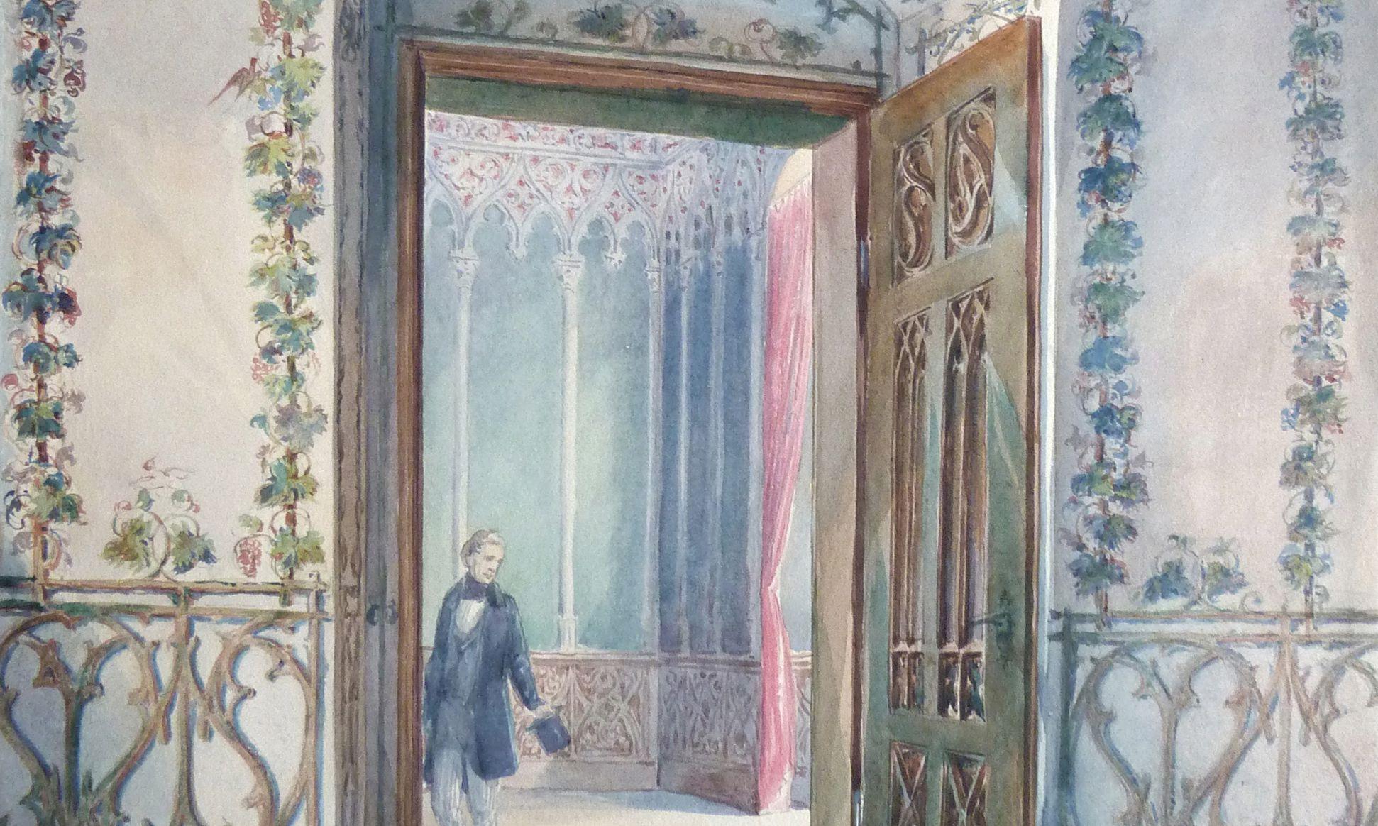 Laubengang mit dem grünen Zimmer Detail