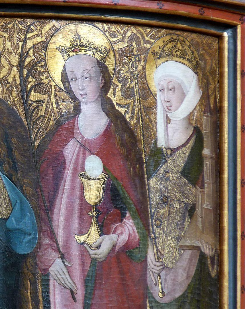 Lehenmaier Epitaph Heiligen Barbara und Kunigunde