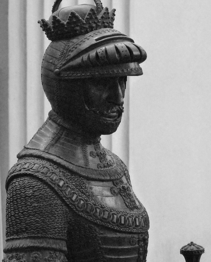 Herzog Leopold II. (Der Fromme) (Innsbruck) Büste im Profil