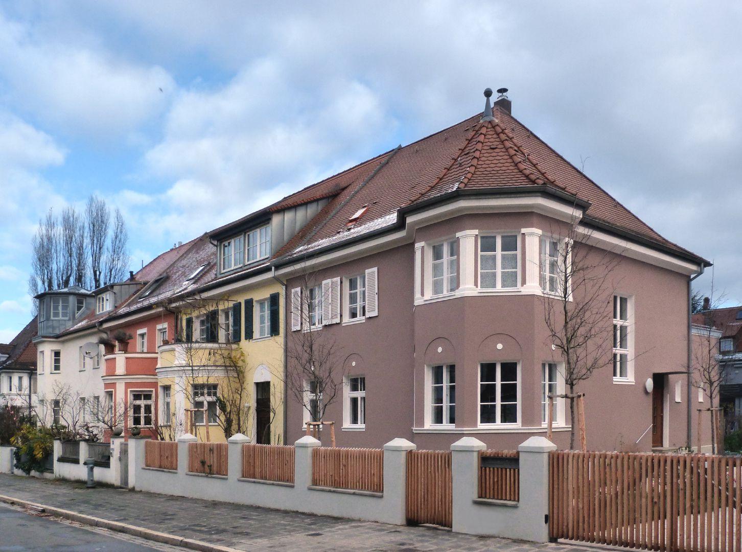 Wohnhausreihe in der Danziger Straße Ansicht von Süden