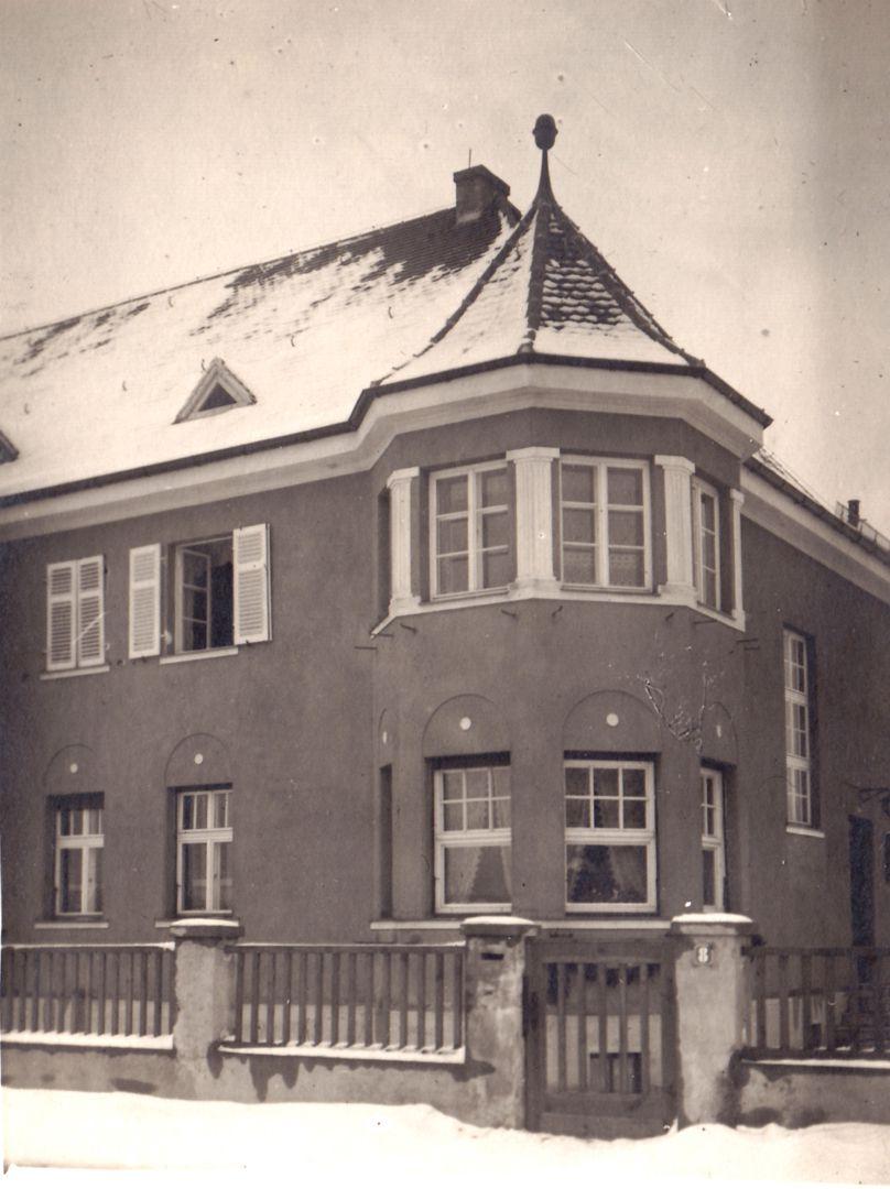 Wohnhausreihe in der Danziger Straße historische Ansicht