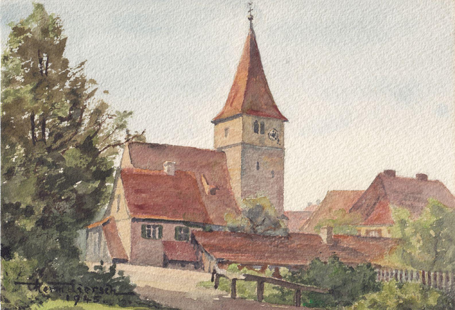 Katzwang bei Nürnberg Gesamtansicht von Süden