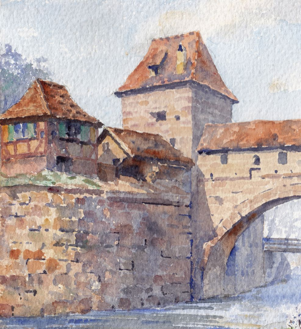 Zwinger vor der Insel Schütt Zwingervorbau mit Stadtmauerturm Blaues B