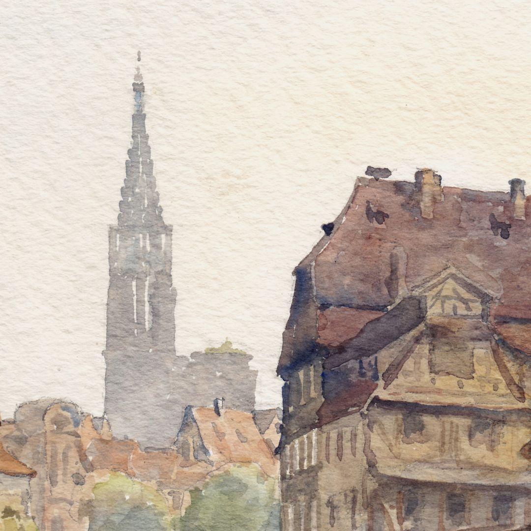 Straßburg Detail mit Münsterturm