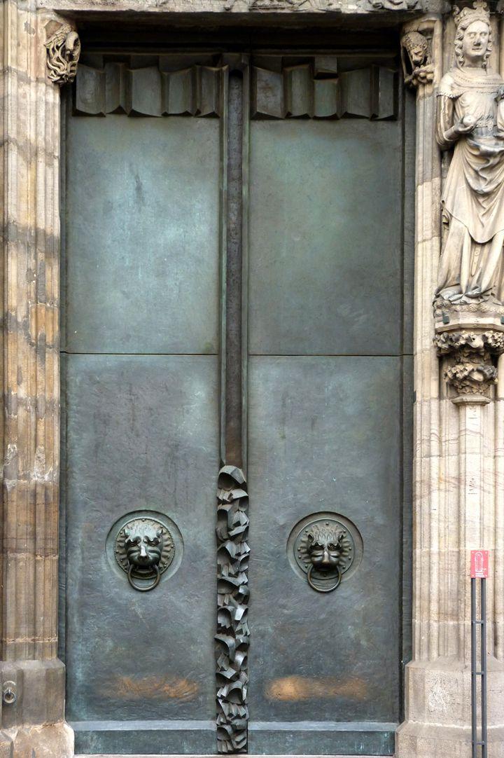 St. Lorenz, Westportal, Bronzetüren nördliche Tür