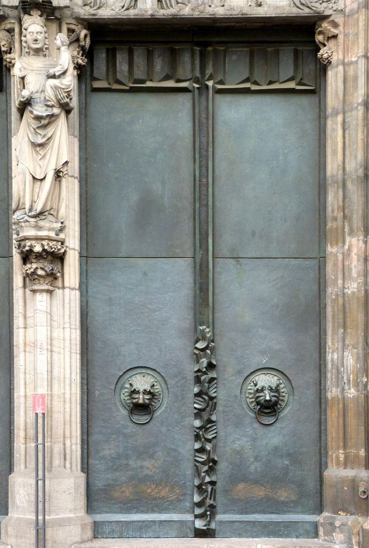 St. Lorenz, Westportal, Bronzetüren südliche Tür