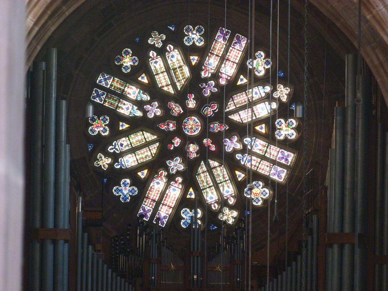 Die Lorenzkirche als Architektur Rose von Innen