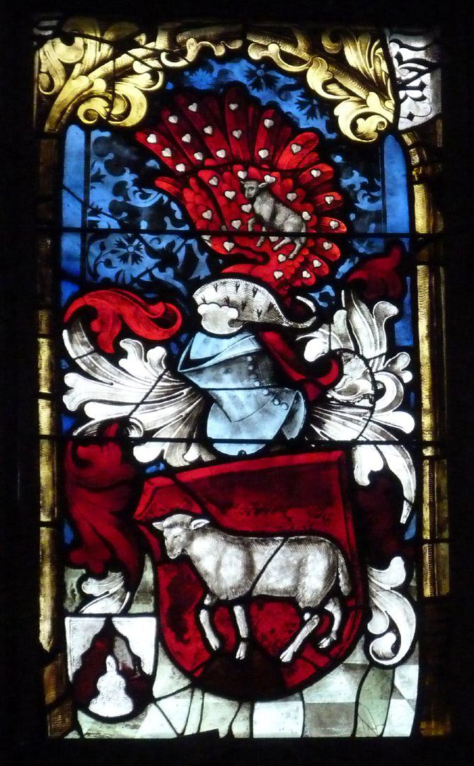 Loeffelholz-Fenster viertes Fenster aus der unteren Wappenzeile