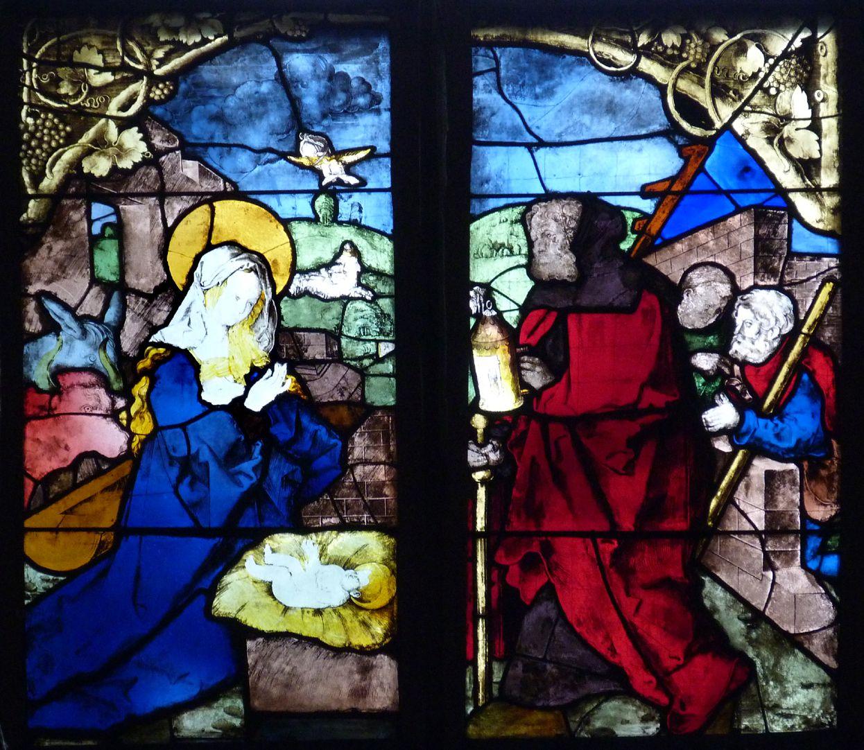 Loeffelholz-Fenster Geburt Christi