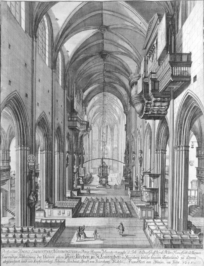 """""""Urbis Norimbergensis Insigniorum Templorum …"""" St. Lorenz"""