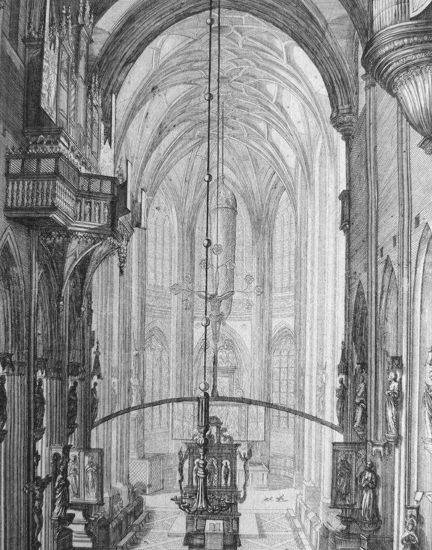 """Urbis Norimbergensis Insigniorum Templorum …"" St. Lorenz Blick in den Hallenchor"