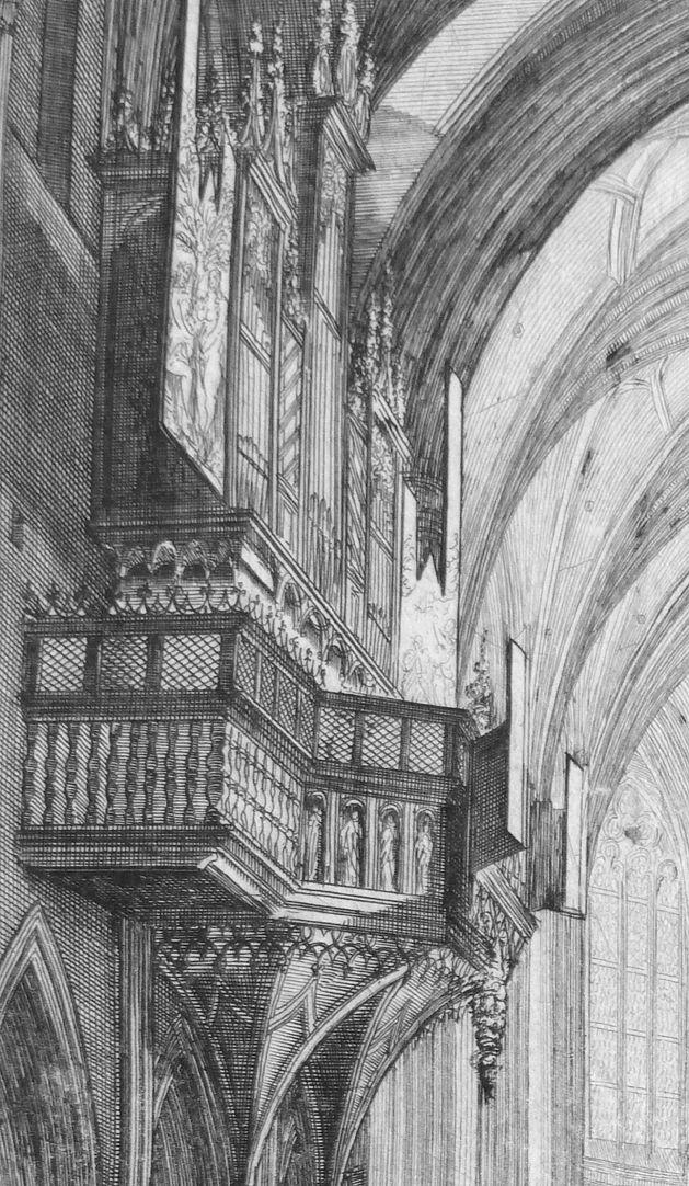 """""""Urbis Norimbergensis Insigniorum Templorum …"""" St. Lorenz Schwalbennestorgel im Langhaus"""