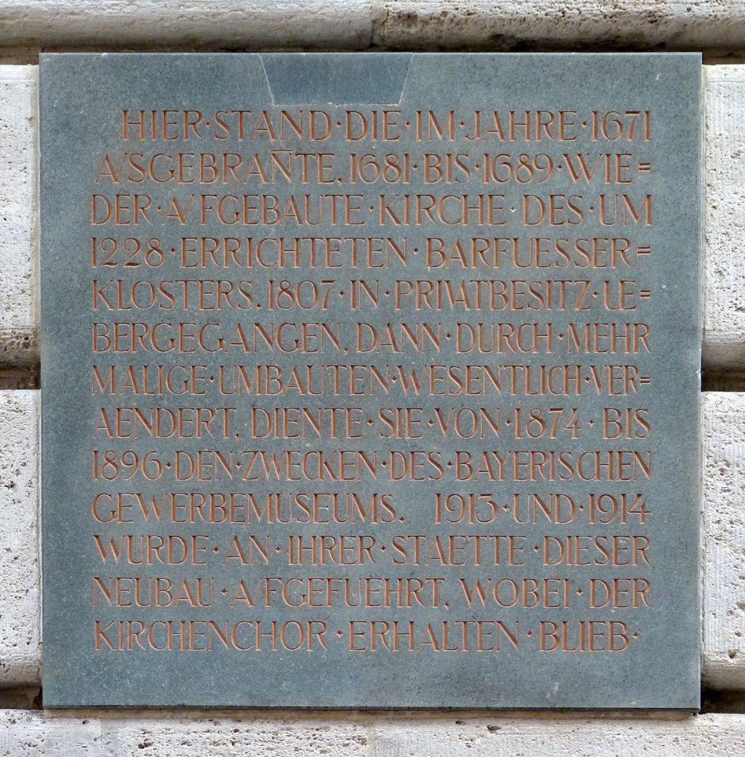 Bayerische Diskonto- und Wechselbank Gedenktafel