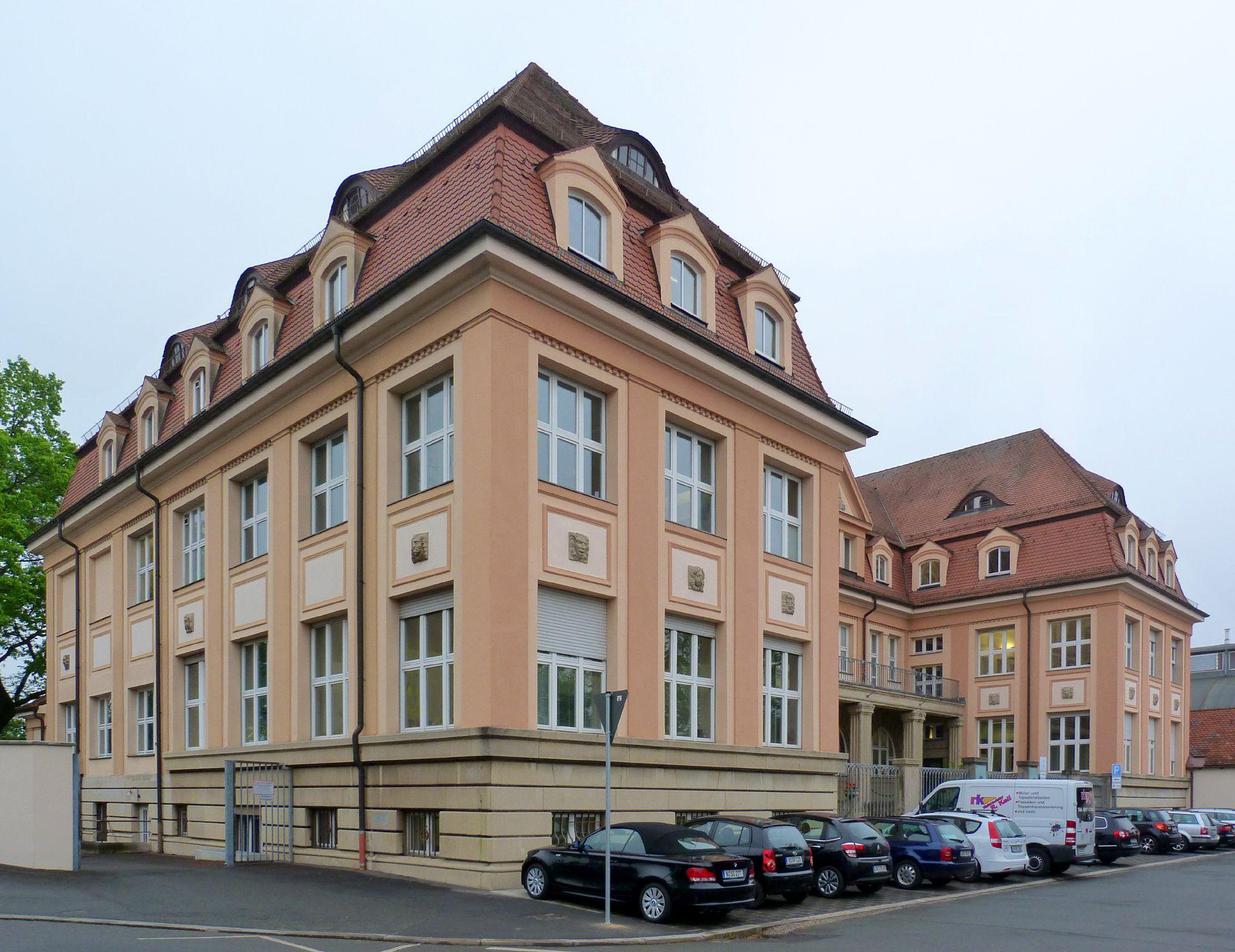 Verwaltungsgebäude der Neumeyer AG Seitenansicht