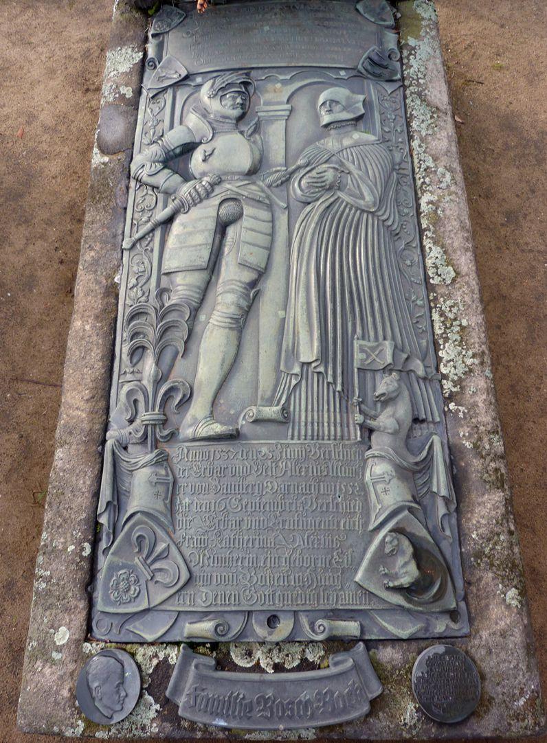 Alexius Müntzer von Bamberg (gest.1537) und Katharina Eisen (gest.1552) Steilansicht