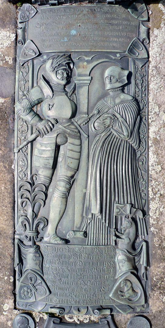 Alexius Müntzer von Bamberg (gest.1537) und Katharina Eisen (gest.1552) Zenitalansicht