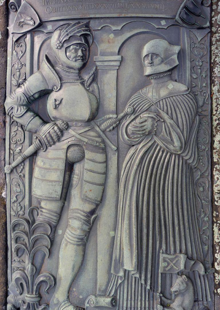 Alexius Müntzer von Bamberg (gest.1537) und Katharina Eisen (gest.1552) Hauptrelief