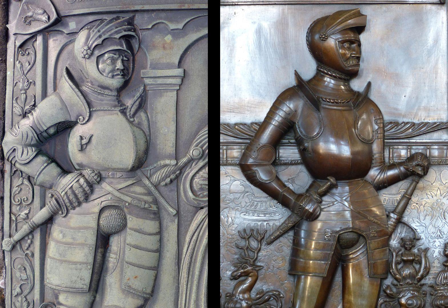 Alexius Müntzer von Bamberg (gest.1537) und Katharina Eisen (gest.1552) Bildvergleich mit Epitaph des Gottfried Werner Graf v. Zimmern von Pankraz Labenwolf (Meßkirch, Baden-Württemberg)