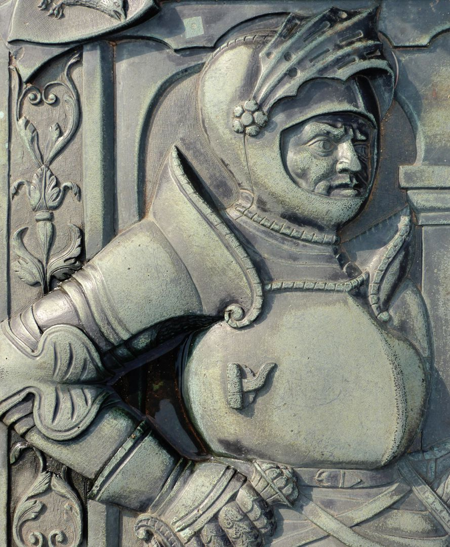 Alexius Müntzer von Bamberg (gest.1537) und Katharina Eisen (gest.1552) Detail des Alexius Müntzer von Bamberg