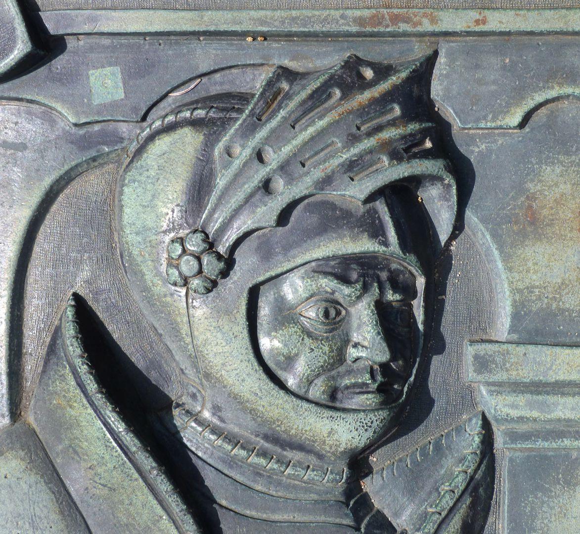 Alexius Müntzer von Bamberg (gest.1537) und Katharina Eisen (gest.1552) Geharnischter Kopf des Alexius Müntzer von Bamberg
