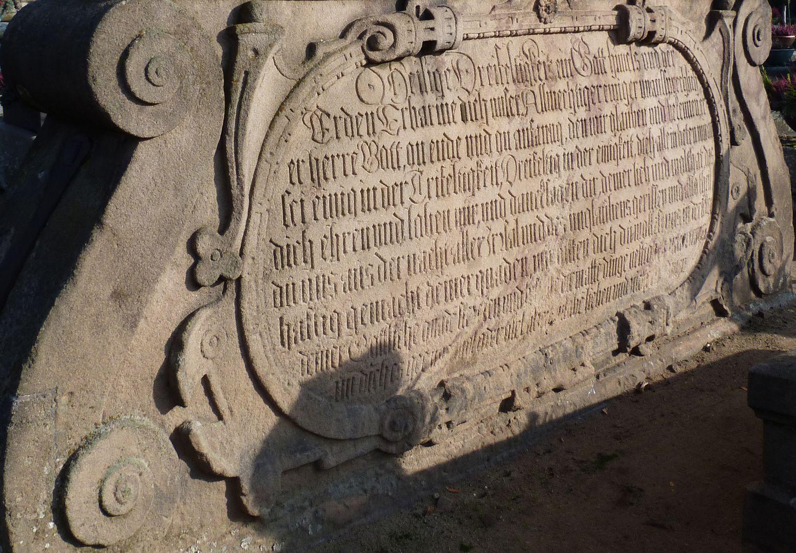Gedächtnisstein des Wolfgang Münzer Basis, Inschrift