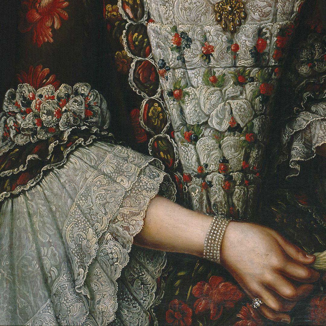 Portrait der Magdalena Barbara von Hailbronner Detail
