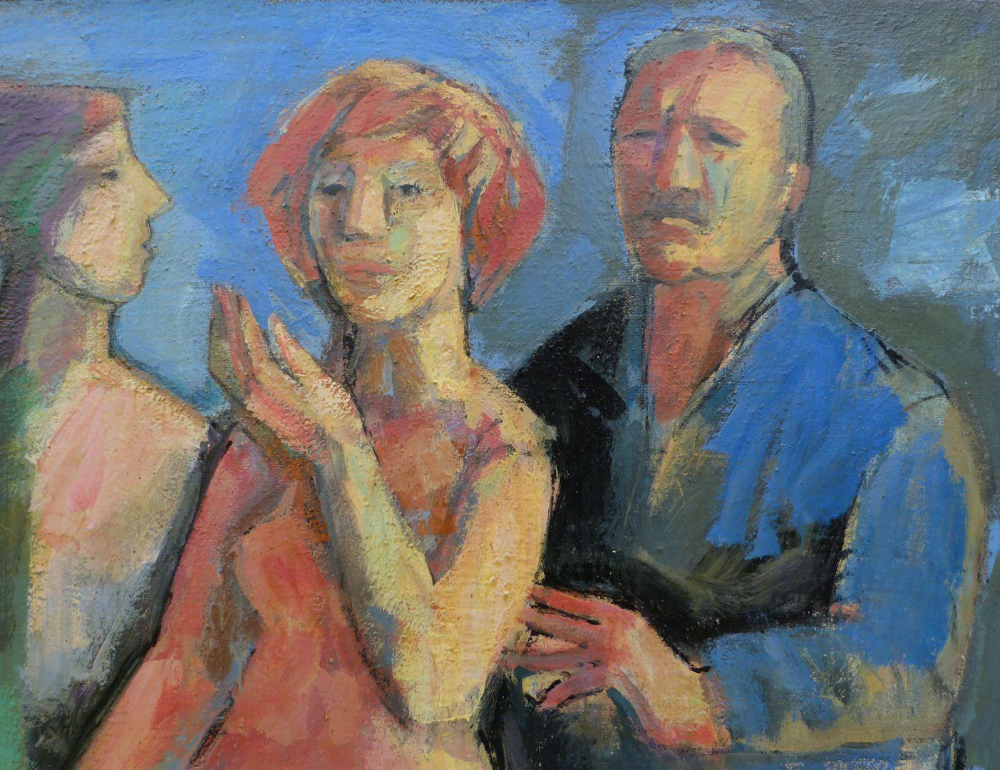 Maler und Modell obere Bildhälfte