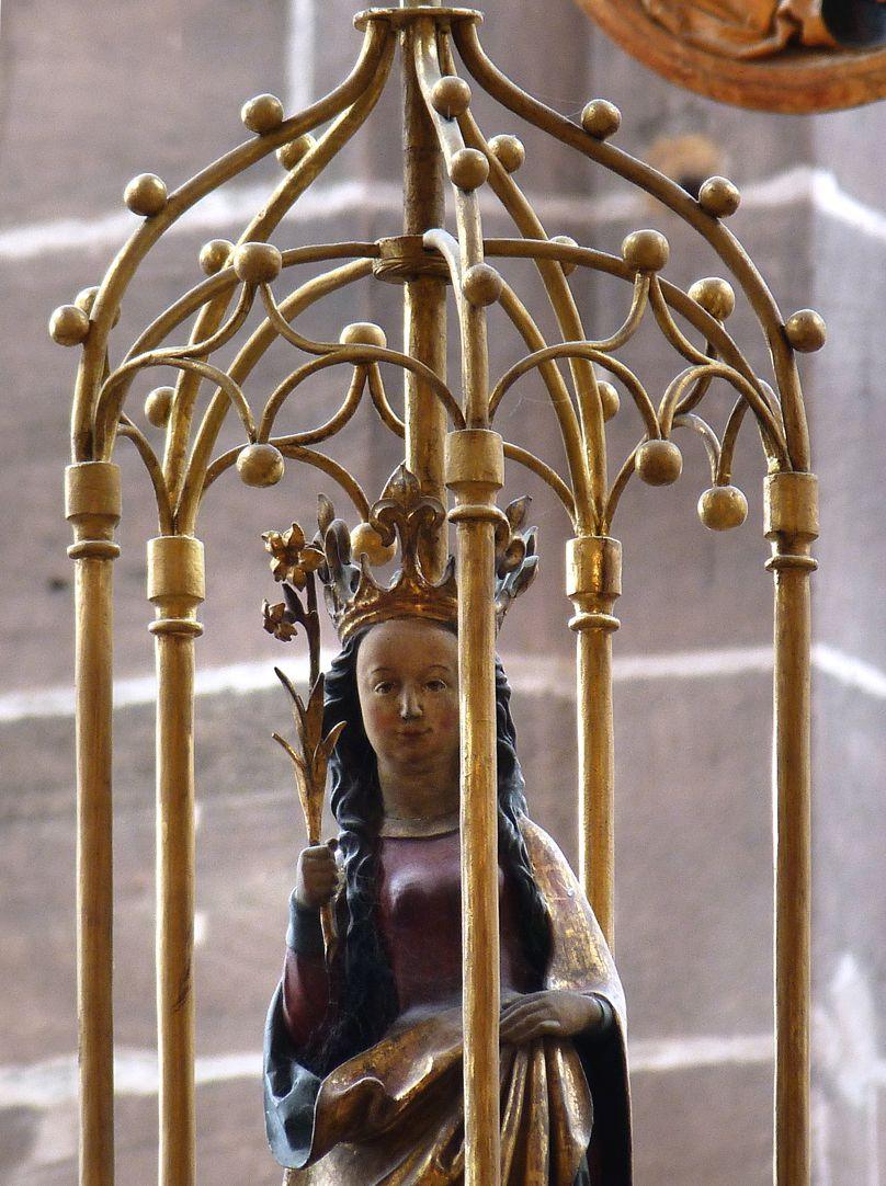 Marienleuchter Gehäuse mit Maria