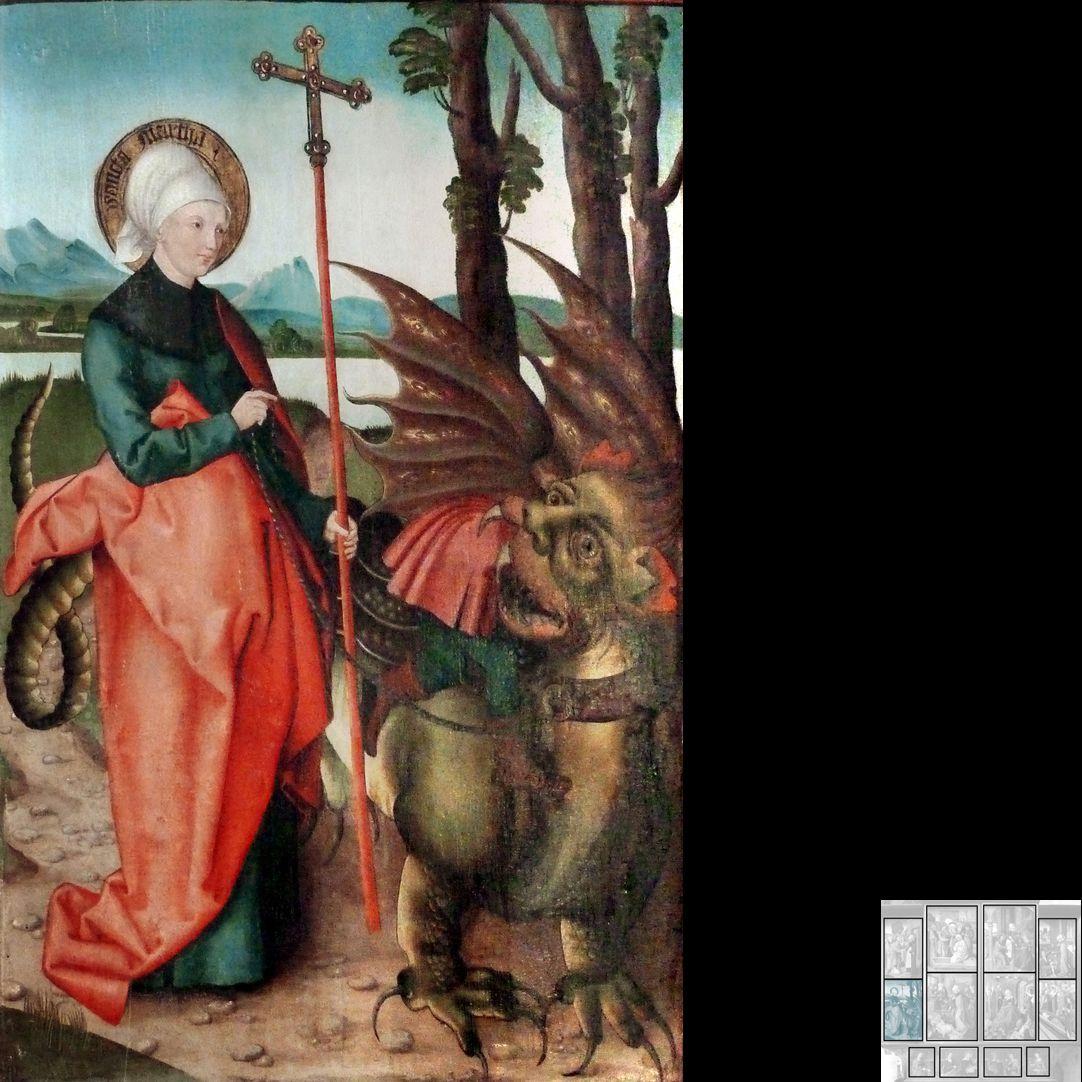 Marthaaltar Martha bändigt den menschenfressenden Drachen Tarascus