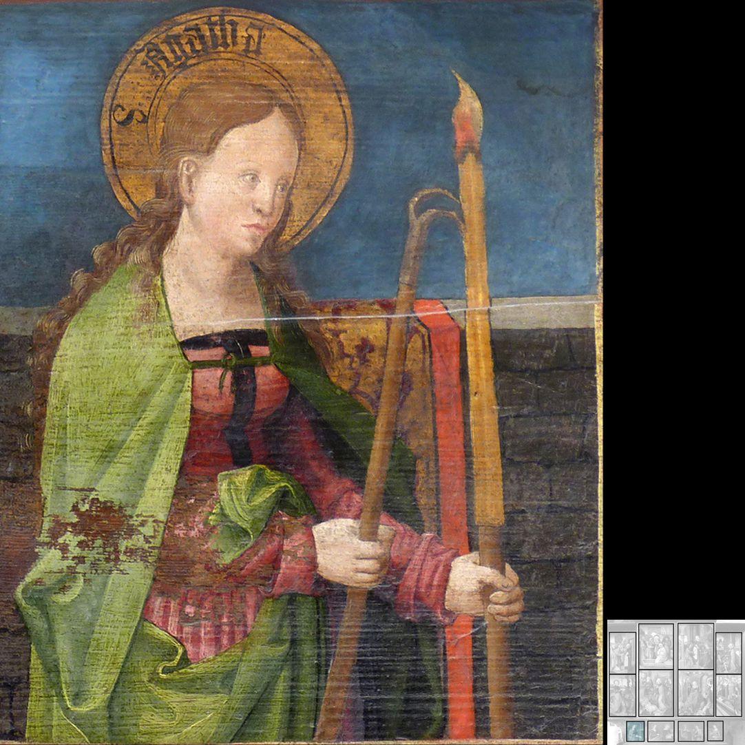 Marthaaltar Predella, Agatha
