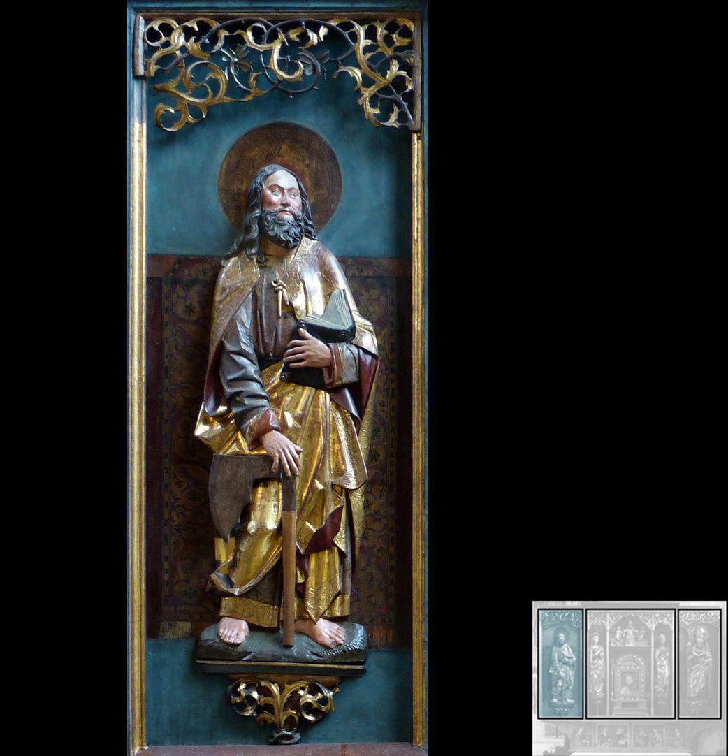 Marthaaltar Apostel Matthias mit dem Beil