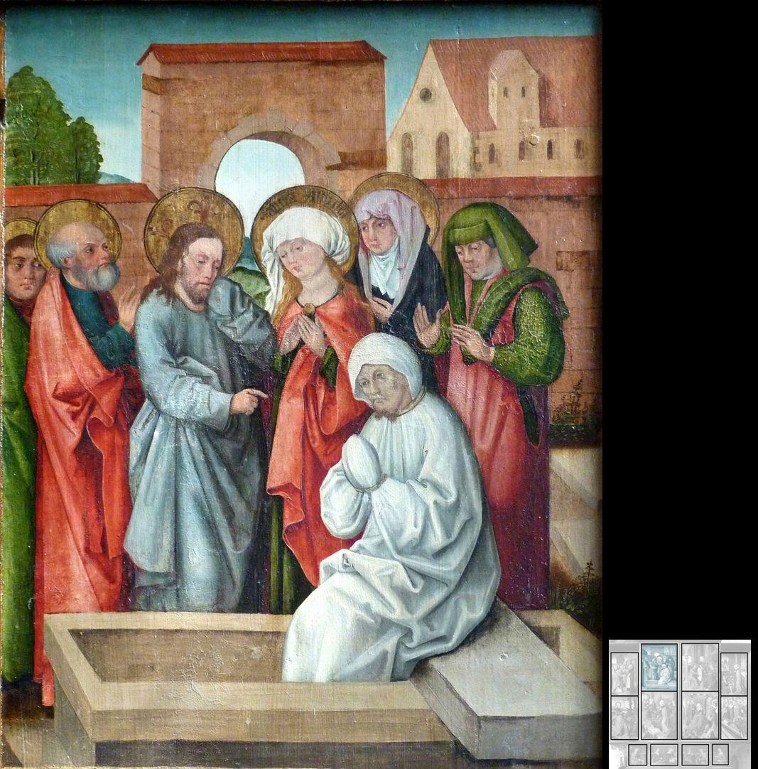 Marthaaltar Erweckung des Bruders Lazarus durch Jesus