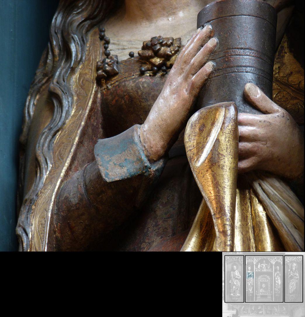 Marthaaltar Maria Magdalena, Detail, Hände