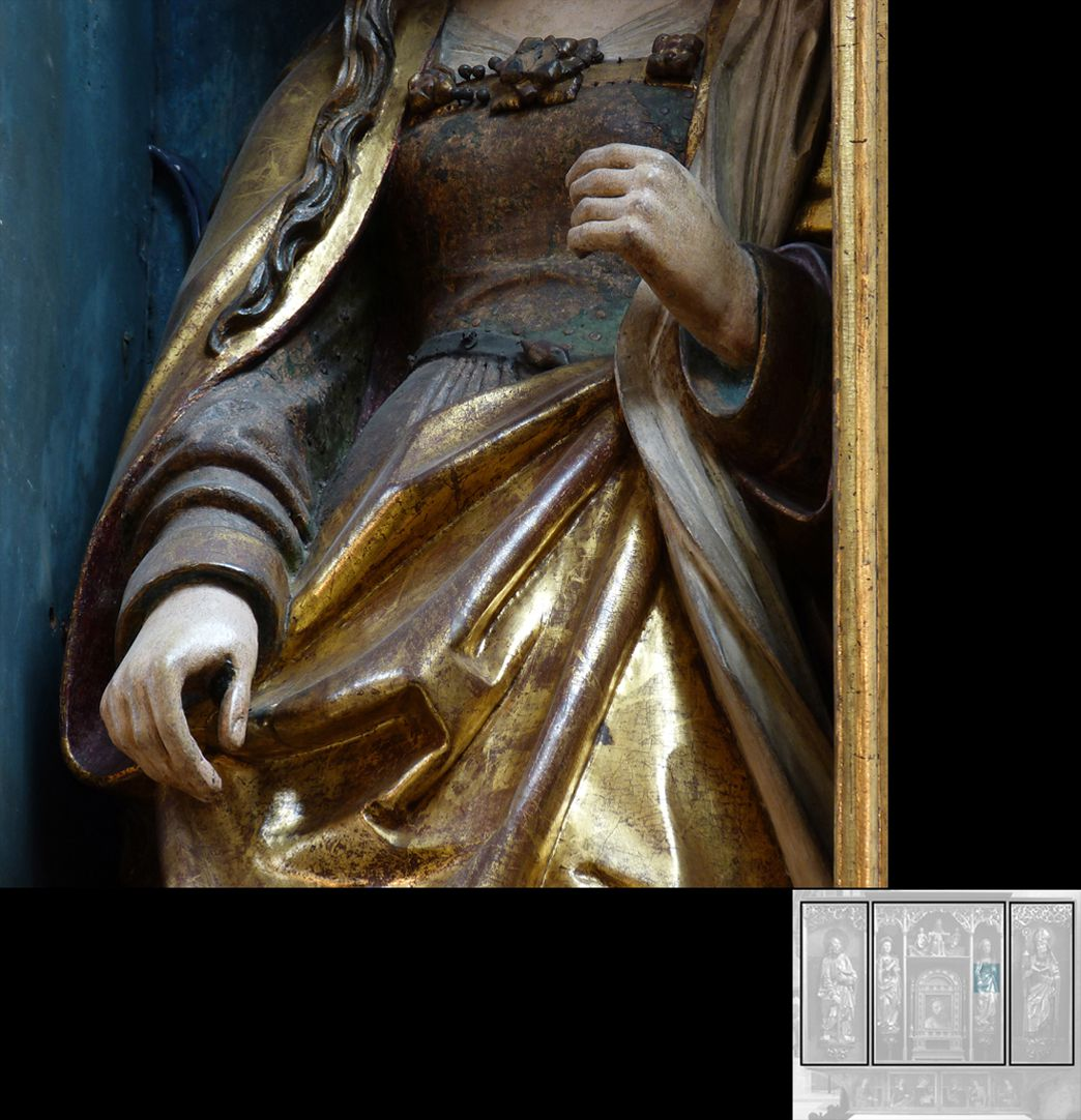 Marthaaltar Martha, Detail