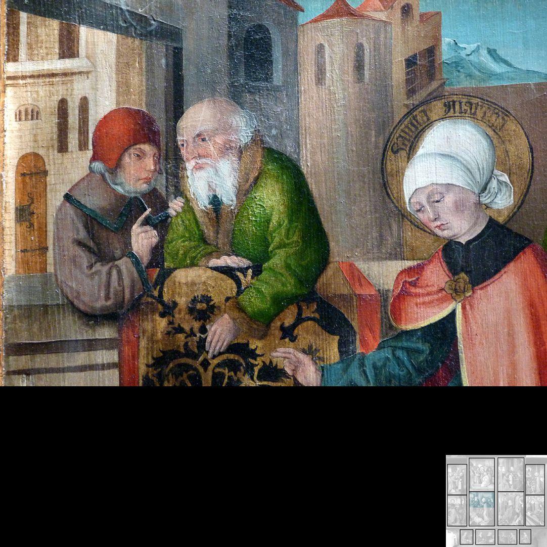 Marthaaltar Das Gleichnis vom reichen Mann und vom armen Lazarus, Detail
