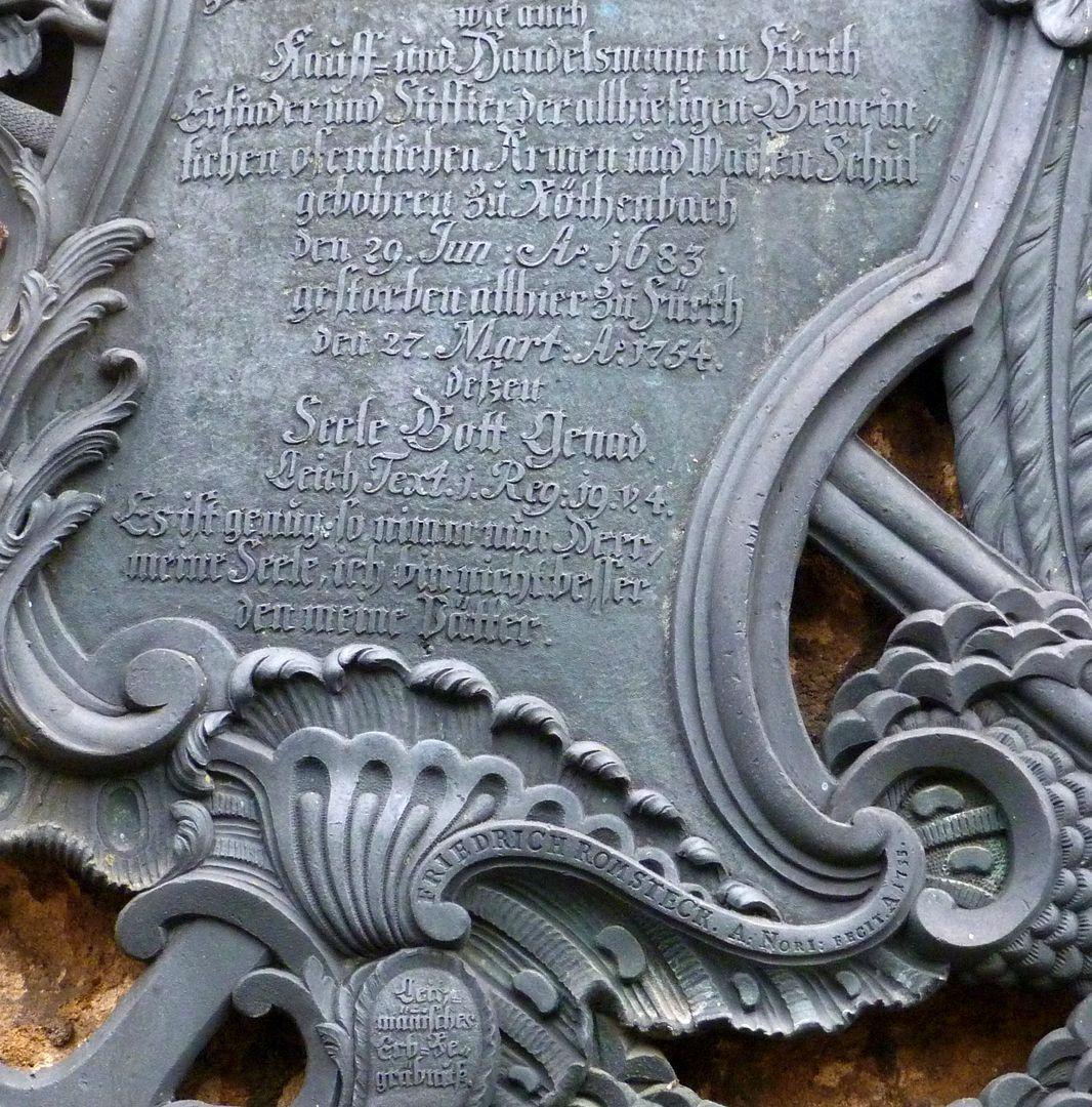 Martin Leitzmann Inschrift, unten