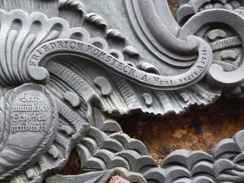 Martin Leitzmann oben mitte: Signatur / unten links Inschrift: Leitzmänisches Erb=Begräbnis