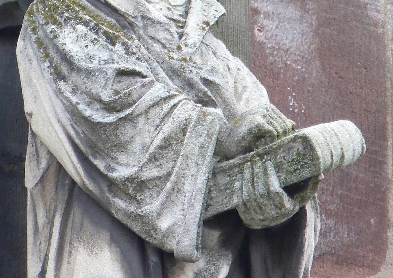 Martin Luther Detail mit Bibel