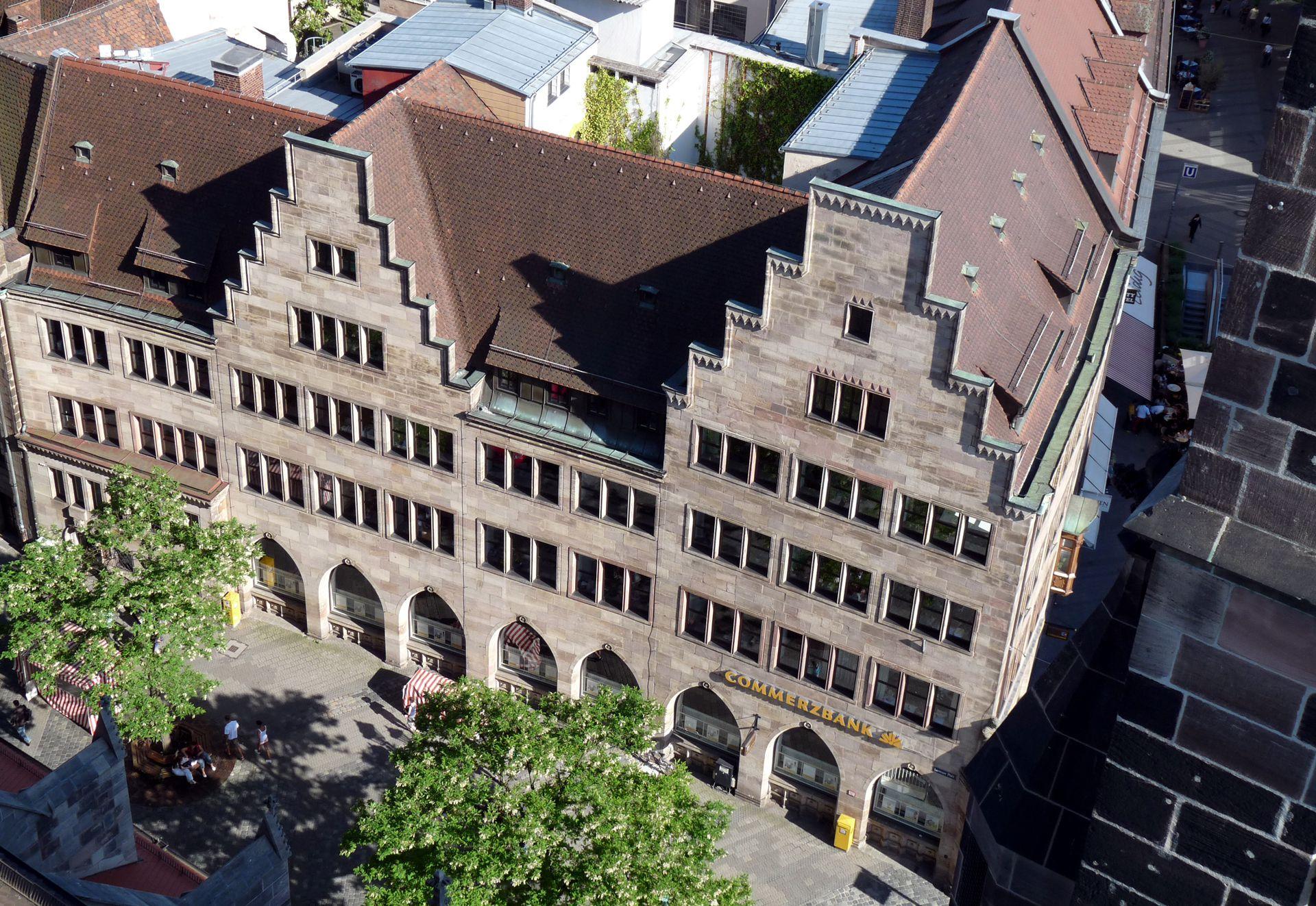 Commerzbank Nordfassade von oben