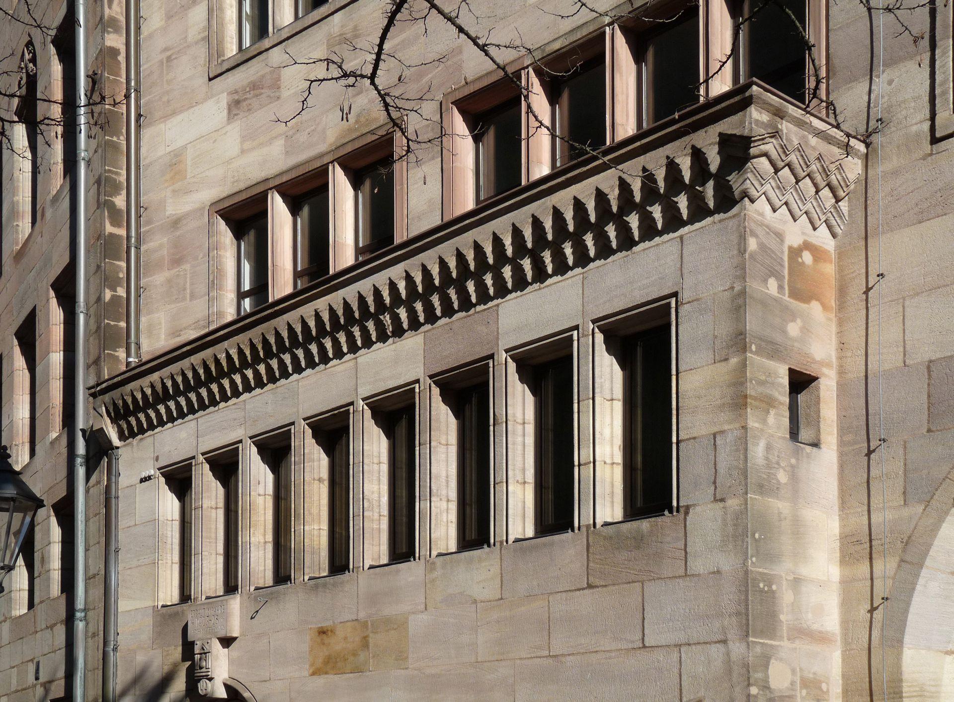 Commerzbank Detail der Nordfassade, Vorsprung
