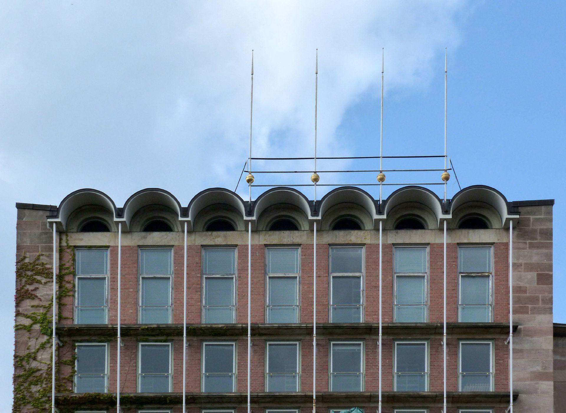 ehem. Stadtbibliothek / ehem. Pellerhaus Pellerhausfassade, oberer Abschluß