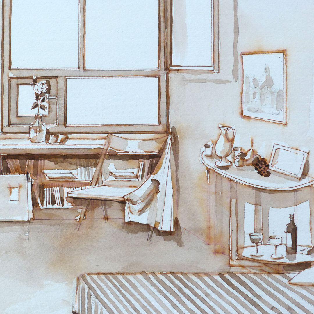 Mein Atelier Inventar des Ateliers, Detailansicht