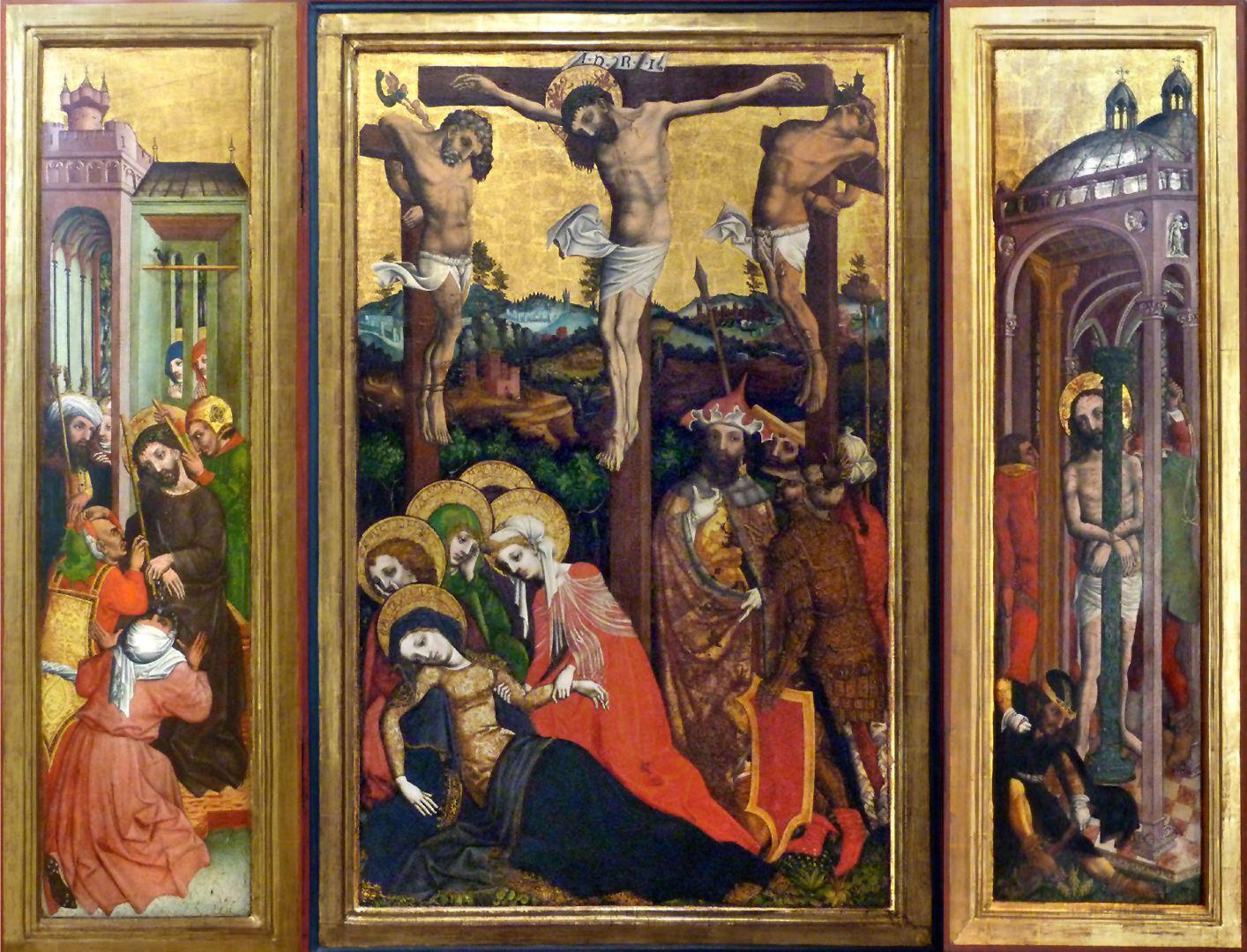 Passionsaltar der Johanniskirche Triptychon im geöffnetem Zustand