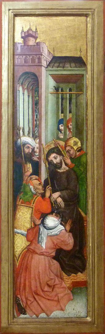 Passionsaltar der Johanniskirche linke Tafel mit der Dornenkrönung