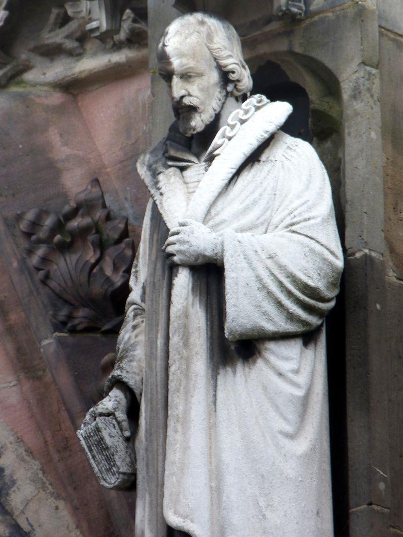 Philipp Melanchthon Detailansicht von Nordwesten