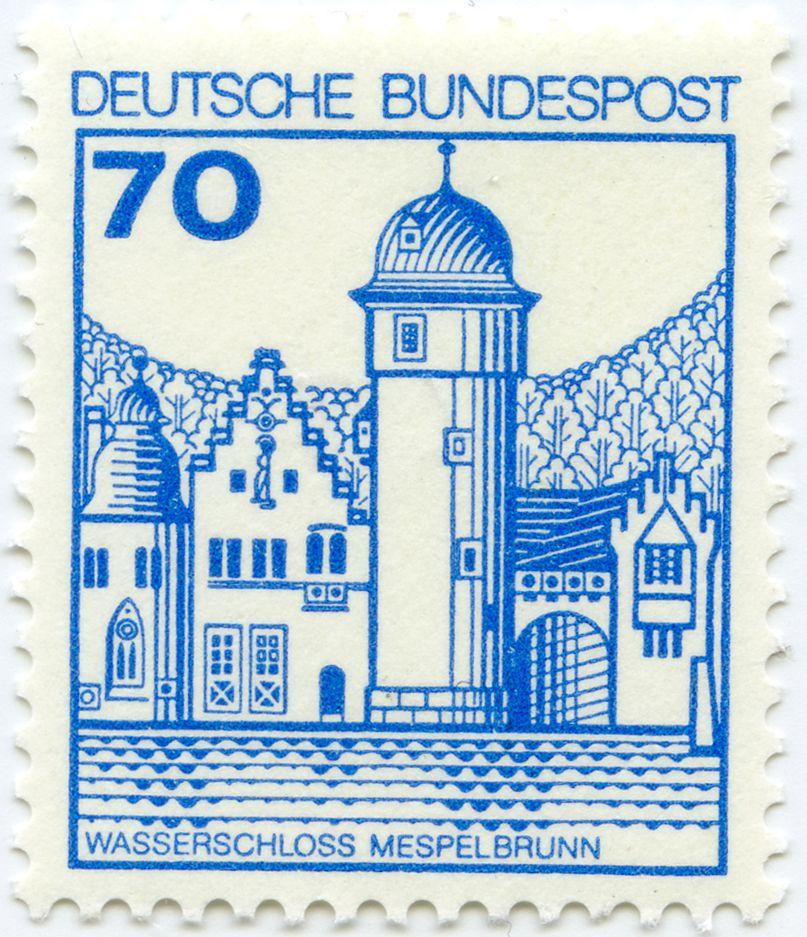 Wasserschloss  Mespelbrunn Gesamtansicht
